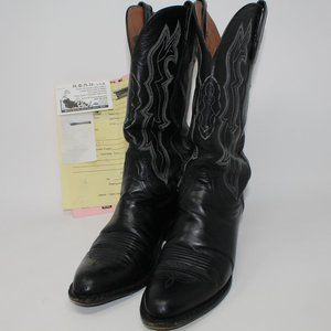 Lucchese 2000 Stingray Hide Mens 7 Boots w/Receipt